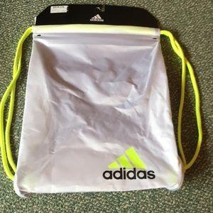 NWT Adidas Drawstring Bag Back Pack Neon